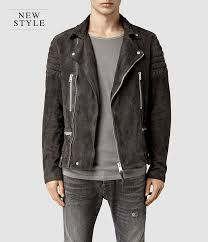 all saints circuit suede biker jacket