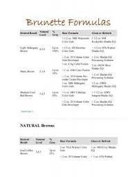 Brunette Formulas Pdf Color Hair Color Formulas Redken