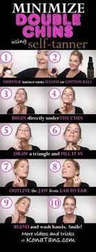step by step tutorial on how to contour double chins with supermodel bronzer katie