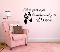 removable ballet shoes wall decal es close your eyes breathe and just wall stickers for kids rooms bedroom decoration sticker es for walls