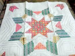 Finding WonderArt Stamped Cross Stitch Quilt Blocks   ThriftyFun & WonderArt star motif quilt block. Adamdwight.com