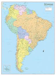 Amazon Com Cool Owl Maps South America Continent Wall Map