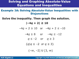 25 solving and graphing absolute value equations and inequalities