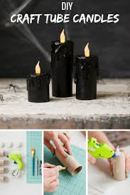 Who knew you could create candles out of paper rolls? Make your own spooky  decor
