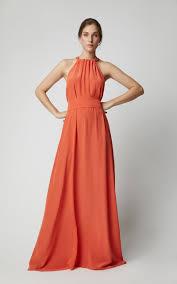 Kalita Designer Kalita Camille Reversible Bow Detailed Silk Maxi Dress In