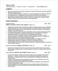 Business Analyst Resume Templates Business Analyst Resume Template 15 Free Samples  Examples Download