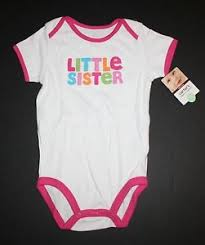 Details About New Carters Little Sister Colorful Applique White Bodysuit Size 18 Months Nwt