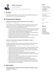 Dental Technician Cv Veterinary Technician Resume Guide Samples Resumeviking Com