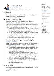 resume specialties examples veterinary technician resume guide samples resumeviking com