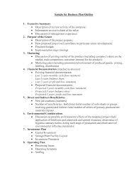 Business Plan Outline Template Business Plan Description Example Business Plan Samples 3
