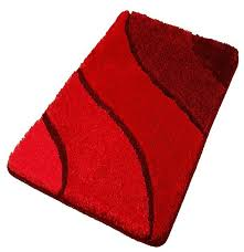 plush washable red bathroom rugs extra large