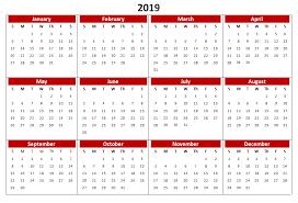 pdf printable calendar 2019 calendar printable templates word excel wallpapers