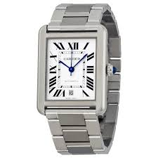 cartier tank solo watches jomashop cartier tank solo xl automatic silver dial stainless steel men s watch