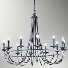 franklite cawdor black iron silver 12 light ceiling fitting fl2224 12