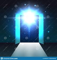 Light At The Door Light From Open Double Door Of Dark Room Abstract Mystical