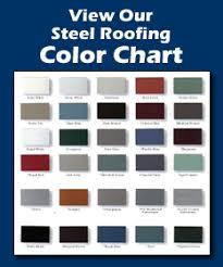 Steel Roof Color Chart Standing Seam Steel Roofing Golke Bros Steel Roofing Llc
