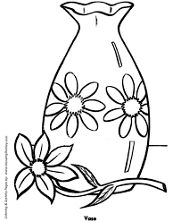 Small Picture Easy Coloring Pages Free Printable Flower Vase Easy Coloring