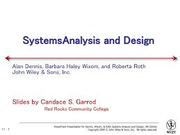 Systems Analysis And Design Wiley Systems Analysis And Design Ppt Download