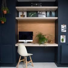 eclectic home office. Example Of A Small Eclectic Built-in Desk Multicolored Floor And Ceramic  Study Room Home Office