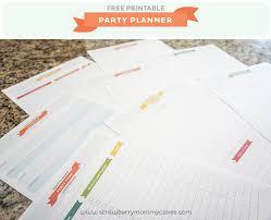 Free Party Planner Printable Printable Crush