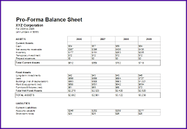 Pro Forma Document Examples Pro Forma Report Example