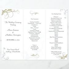 Free Microsoft Word Wedding Program Template Floral Wedding Program Template Microsoft Free Download Word
