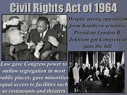 「Lyndon Johnson passed the Civil Rights Act in 1964」の画像検索結果