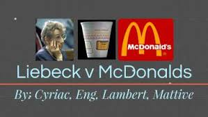 In the decade before liebeck's spill, mcdonald's had received 700 reports of people burning themselves. Liebeck V Mcdonalds By Kevin Eng