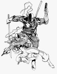 Small Picture Deathstroke Original Coloring Pages Printable With Deathstroke