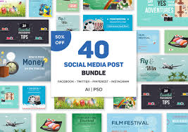 Social Media Post Bundle Template For Only 18 Designs Net