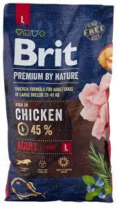 Купить <b>Сухой корм</b> для собак <b>Brit</b> Premium by Nature, курица 8 кг ...