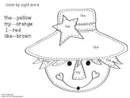 scarcecrow color activity color by sight word (fall style!) word work pinterest on kindergarten sight word test template