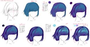 how to draw hair by ryky