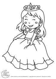 Coloriage Petite Princessel
