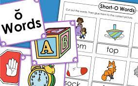 Printable phonics worksheets and flash cards: Short O Phonics Worksheets
