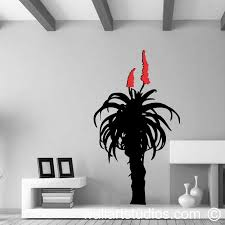aloe on wall art vinyl stickers south africa with flowers plants wall art south africa wallart studios