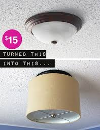 upgrade a ceiling light with a drum shade for under 15 drum shade drums and decorating