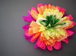 Flower Templates For Paper Flowers Crepe Paper Flowers Tie Large Crepe Paper Flower Template