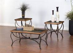 designs sedona table top base: sedona rustic oak wood metal coffee table set