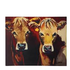 w two cows canvas wall art de1846 the home depot on two cows canvas wall art with 3r studios 26 in h x 32 in w two cows canvas wall art de1846
