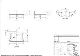 acacia e wallhung basin ideal kitchen