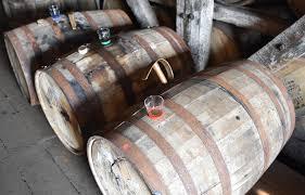 oak barrels stacked top. oak barrels stacked top knob creek barrel with sample glasses