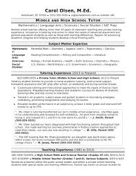 Tutor Resume Sample Sonicajuegos Com