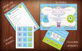 Monster Inc Baby Shower Decorations Monsters Inc Baby Shower Afoodaffairme