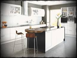 Off White Kitchen Cabinets With Black Countertops Round Shine Glass