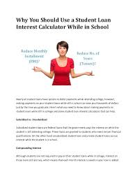 Loan Calculator College Education Loan Calculator India Why You Should Use A