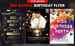 Birthday Flyer Templates Free Cool 48 Birthday Flyer Templates Free Premium Download