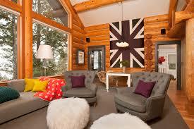 cabin living room furniture. jackson hole modern log cabin grace home design contemporarylivingroom living room furniture
