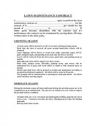 Lawn Maintenance Contract Images Mowing Business Plan Pdf Care