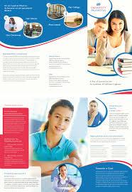 University Brochure Template Free University TriFold Brochure Adobe Photoshop Illustrator 8